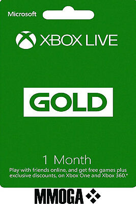 1 Month Xbox Live Gold Membership - Microsoft Xbox 360 One Subscription - US/CA