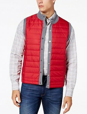 Barbour Men's Red Essential Quilted Gilet Vest