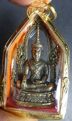 RARE PHRA NA MEN TEMPLE BUDDHA IN ROYAL ATTIRE AYUTTHAYA STYLE AMULET with KRING