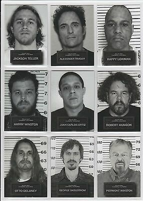2015 Sons of Anarchy Seasons 6 & 7 Complete (9) Card Mug Shot Set