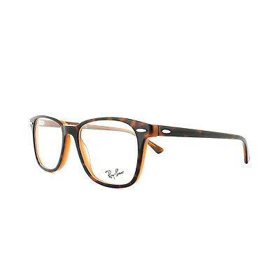 1a9a2505f9b Ray-Ban Glasses Frames 7119 5713 Top Havana on Light Brown Mens Womens 53mm
