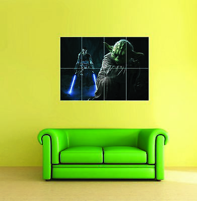 STAR WARS GRAFFITI YODA STENCIL STYLE GIANT ART PRINT PANEL POSTER NOR0547