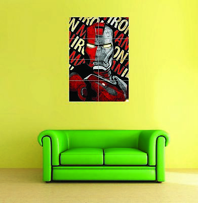 Shepard Fairey Iron Man Giant Wall Art Print Poster Picture