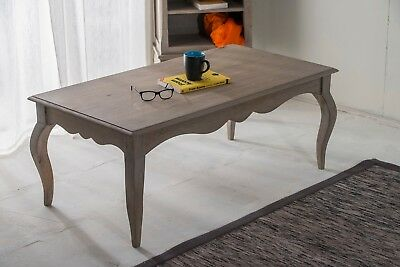 Bourdeilles Coffee Table Solid Shabby Chic in Mango Free Delivery!!