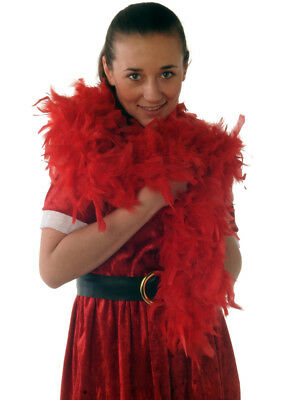 1.8M Luxury 80G Red Feather Boa - Hen Party-Burlesque-Fancy Dress