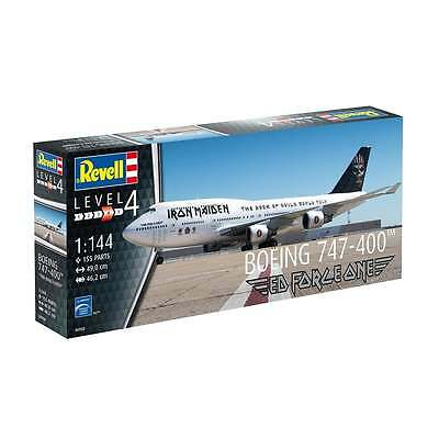 Revell 1:144 Boeing 747-400 Ed Force one Iron Maiden Model Aircraft Kit - 04950