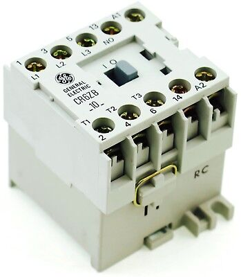 New Ge Miniature Din R.magnetic Contactor Cr6Zbl 24Vdc Coil Ca4-9-10-24D