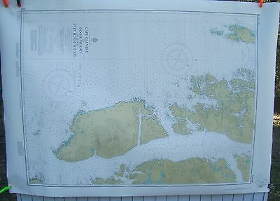 Canada BC Nautical Map Chart #3727 Cape Calvert to Goose Island inc Fitz Hugh Sd