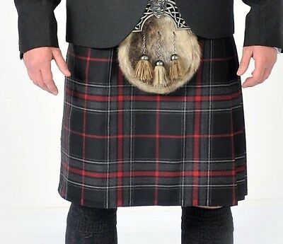 "Spirit of Bruce Modern 8 Yard 100% Wool Kilt Ex Hire A1 Conditon 24"" Drop"