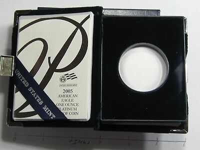 2005 American Eagle Platinum Proof 1 Oz Box Only With Papers