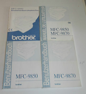Brother MFC-9880 MFC-9870 MFC-9870/9850 MFC-9850 4x Bedienungsanleitung & 1x CD