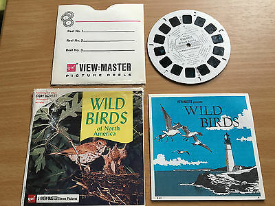 VIEW MASTER SLIDES. Wild Birds Of North America with story booklet. 1955.