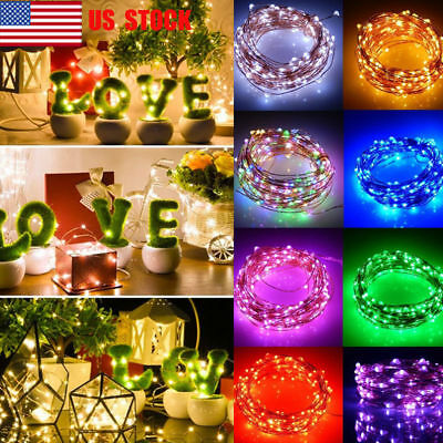 NEW 10M String Lights 100 LED Christmas Tree Fairy Party  Lamp Xmas Waterproof