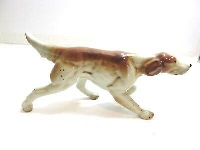 "Lovely Vintage Goldscheider Inc 11 3/4"" Long Pointer Hunting Dog On Point"