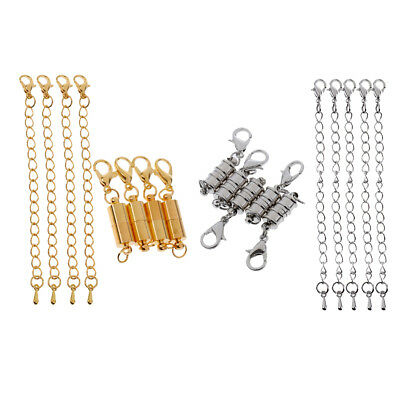 18 Pieces Magnetic Losbater Clasp with Extender Chain DIY Craft Findings