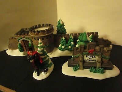 Dept 56 Dickens Village Series Tower of London Gate Limited 1997 Retired 3 Piece