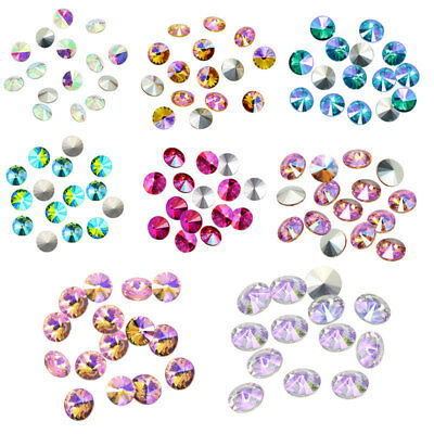 Colored AB XILION ELEMENTS Crystals Glass Rivoli Loose Beads DIY 14mm x 15