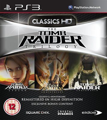 PS3 Game Tomb Raider Trilogy HD with Legend & Anniversary & Underworld New