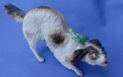 Antique Cavalier King Charles Spaniel Victorian Bisque Dog 8""