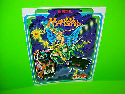 Universal MAGICAL SPOT 1980 Video Arcade Game PROMO Ad Not A Promo Sales Flyer