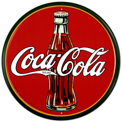 Tin Sign Title - Coca-Cola Bottle Round Metal Sign 12 by 12 inch 1 count