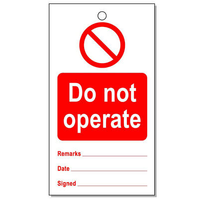 Lockout Tag Do Not Operate (10) (RPT29AR)