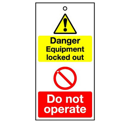 Lockout Tag Danger Equipment Locked (10) (RPT32AR)