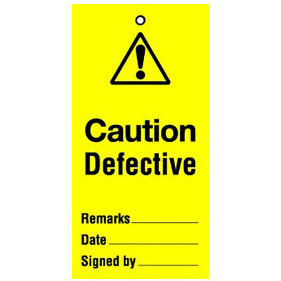 Lockout Tag Caution Defective (10) (RWT42A)