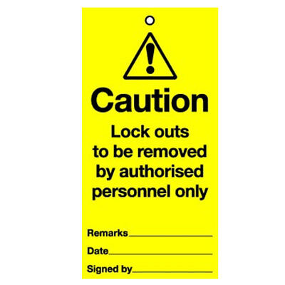 Lockout Tag Removed By Authorised (10) (RPT33AR)