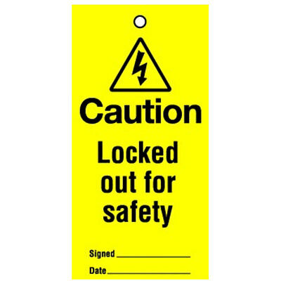 Lockout Tag Locked Out For Safety 100mm (10) (RLT04BR)