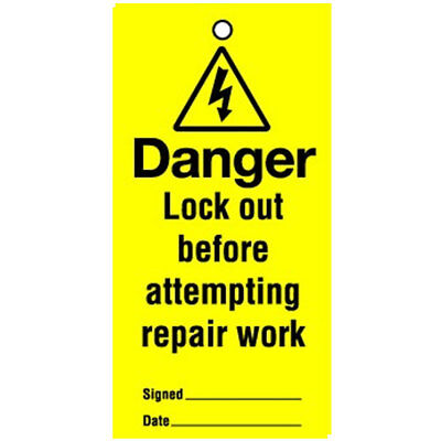 Lockout Tag Danger Lock Out Before (10) (RLT03)