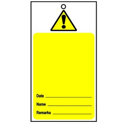 Lockout Tag Disposable Hazard (100) (RLOT1)