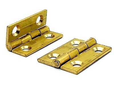 Long Hinges Jewellery Box Dolls House 65mm With Screws Brassed Multi List
