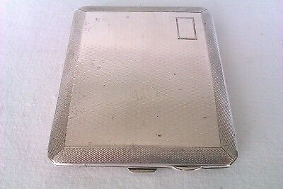 Solid Silver Engine Turned Art Deco Cigarette Case Abrahams Brothers 1929