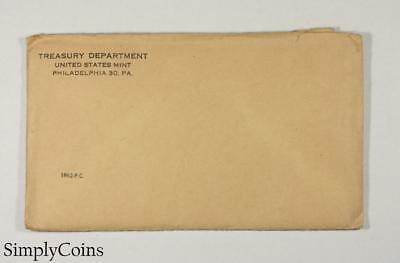1962 Proof Set ~ Original Envelope With COA ~ US Mint Silver Coin Lot SKU-1166