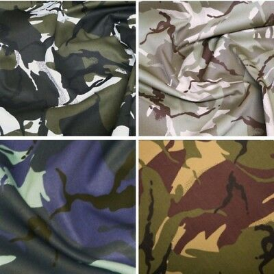 100% Cotton Drill Fabric Camouflage Army Military Material