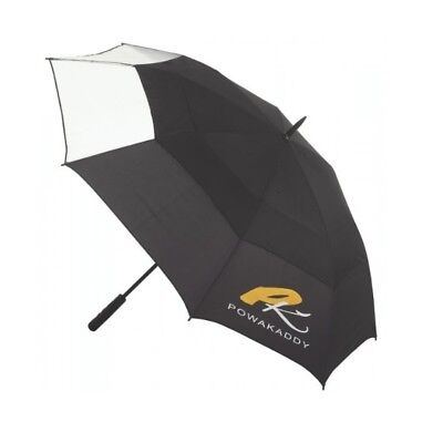 *new* Powakaddy Auto Open Clearview Double Canopy Windproof Umbrella (Black)
