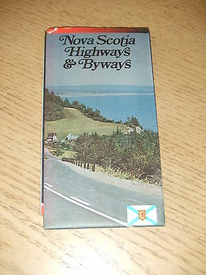 VINTAGE 1975 OFFICIAL Nova Scotia Canada Highway Road Map Tourist Guide Brochure