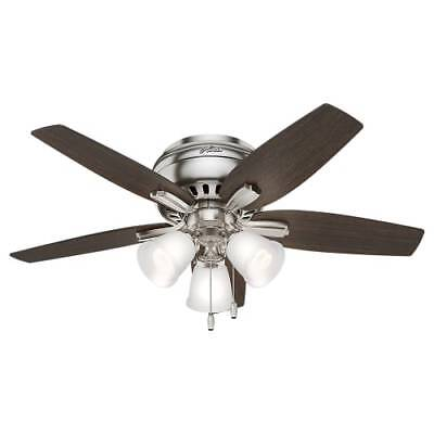 Hunter Newsome 42 Led Low Profile 5 Blade Ceiling Fan With Light Kit