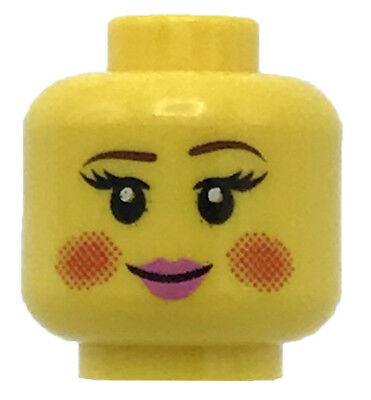 Angry LEGO Minifigure Head YELLOW Male Boy Dual Sided Cheek Lines Surprised