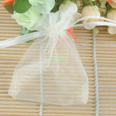 100x Plain Organza Drawstring Gift Bags Pouches 7X9cm Fit Wedding XMAS Festival