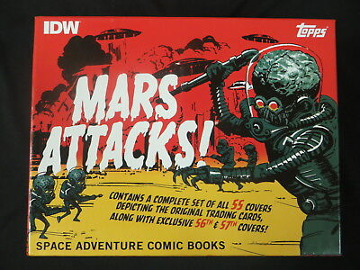 Topps Idw Mars Attacks Space Adventure Comic Books Box Set Complete 57 Issues