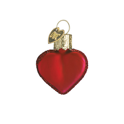 """Small Red Heart"" (Matte Red) (30010) Old World Christmas Ornament w/OWC Box"