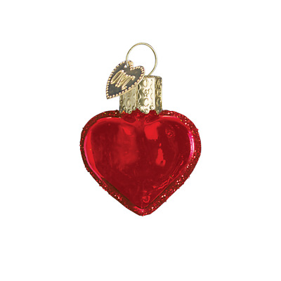 """Small Red Heart"" (Shiny Red) (30010) Old World Christmas Ornament w/OWC Box"