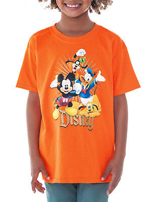 Boys Disney Mickey Mouse & Friends T-Shirt - Short Sleeve Orange