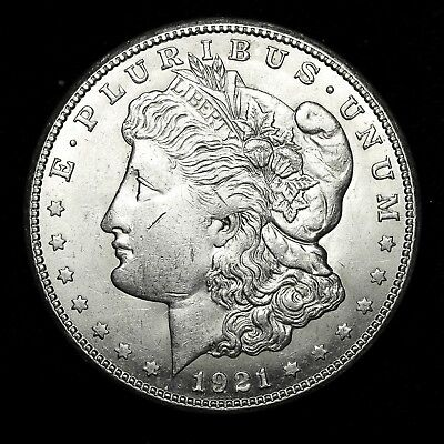1921 S ~**ABOUT UNCIRCULATED AU**~ Silver Morgan Dollar Rare US Old Coin! #L70