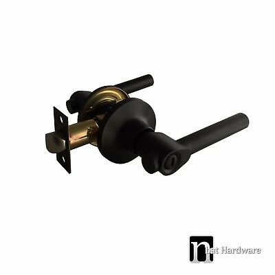 Matt Black Door Lever Handles Privacy Set - Piper Series Handle (2333MB)