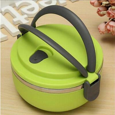1 Layer Stainless Steel Thermal Insulated Bento Food Container Lunch Box HOT LG