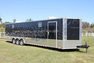New 2018 8.5 X 32 8.5X32 Enclosed Race Cargo Car Hauler Trailer - Loaded !!