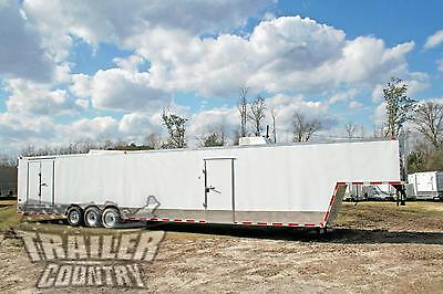 New 2018 8.5X48 8.5 X 48 Enclosed Gooseneck Cargo Car Hauler Toy Trailer Loaded